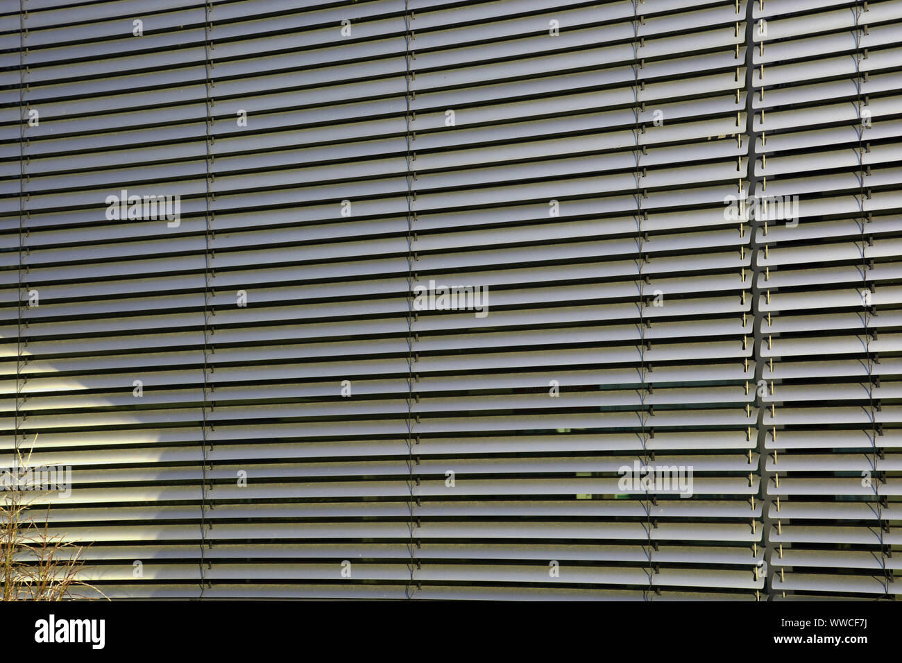 Outside Blinds Background Metal External Blinds As Sun And Sight Protection Stock Photo Alamy