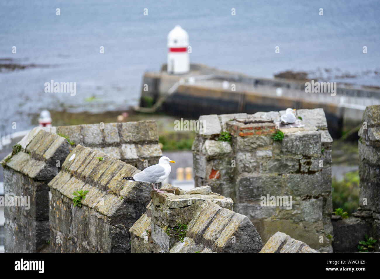 Castletown, Isle of Man, June 16, 2019.View from Castle Rushen a medieval castle located in the Isle of Man's historic capital, Castletown Stock Photo