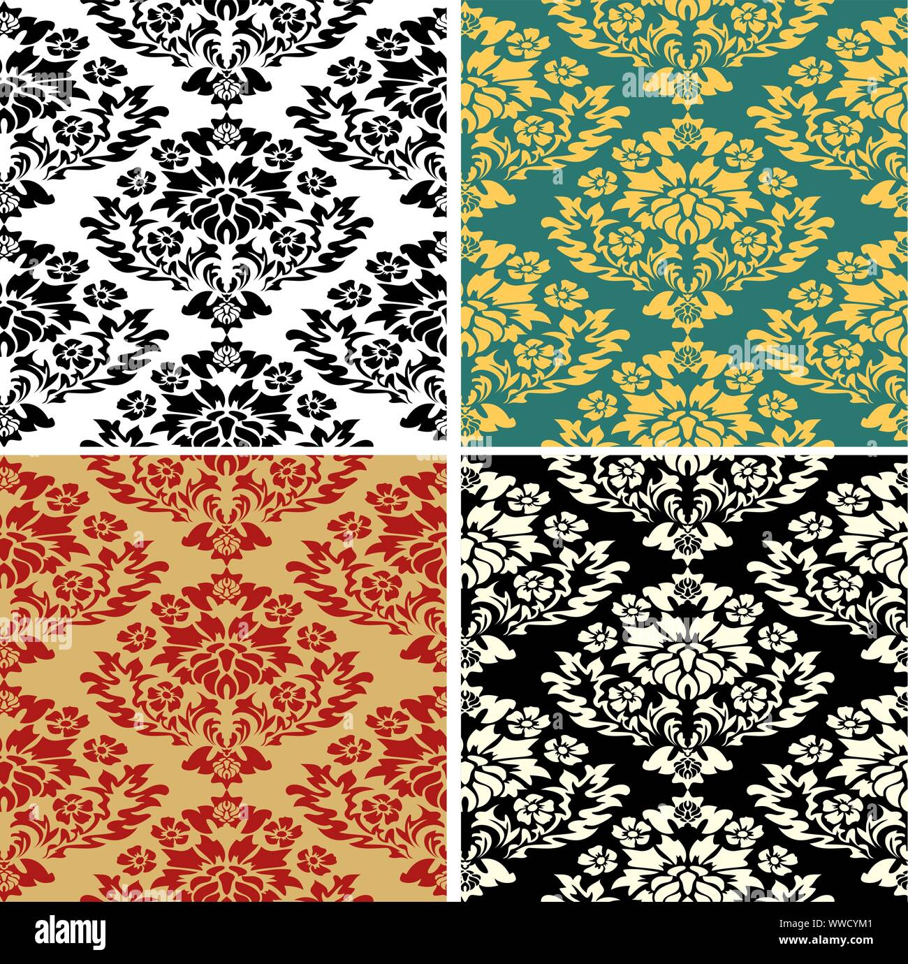 Royal Pattern Modern Abstract Backdrop Floral Exotic Vintage