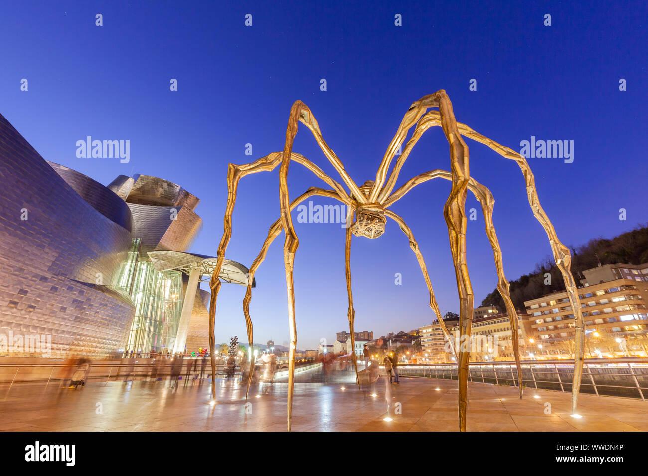 Maman sculpture in Guggenheim Museum, Bilbao, Spain Stock Photo