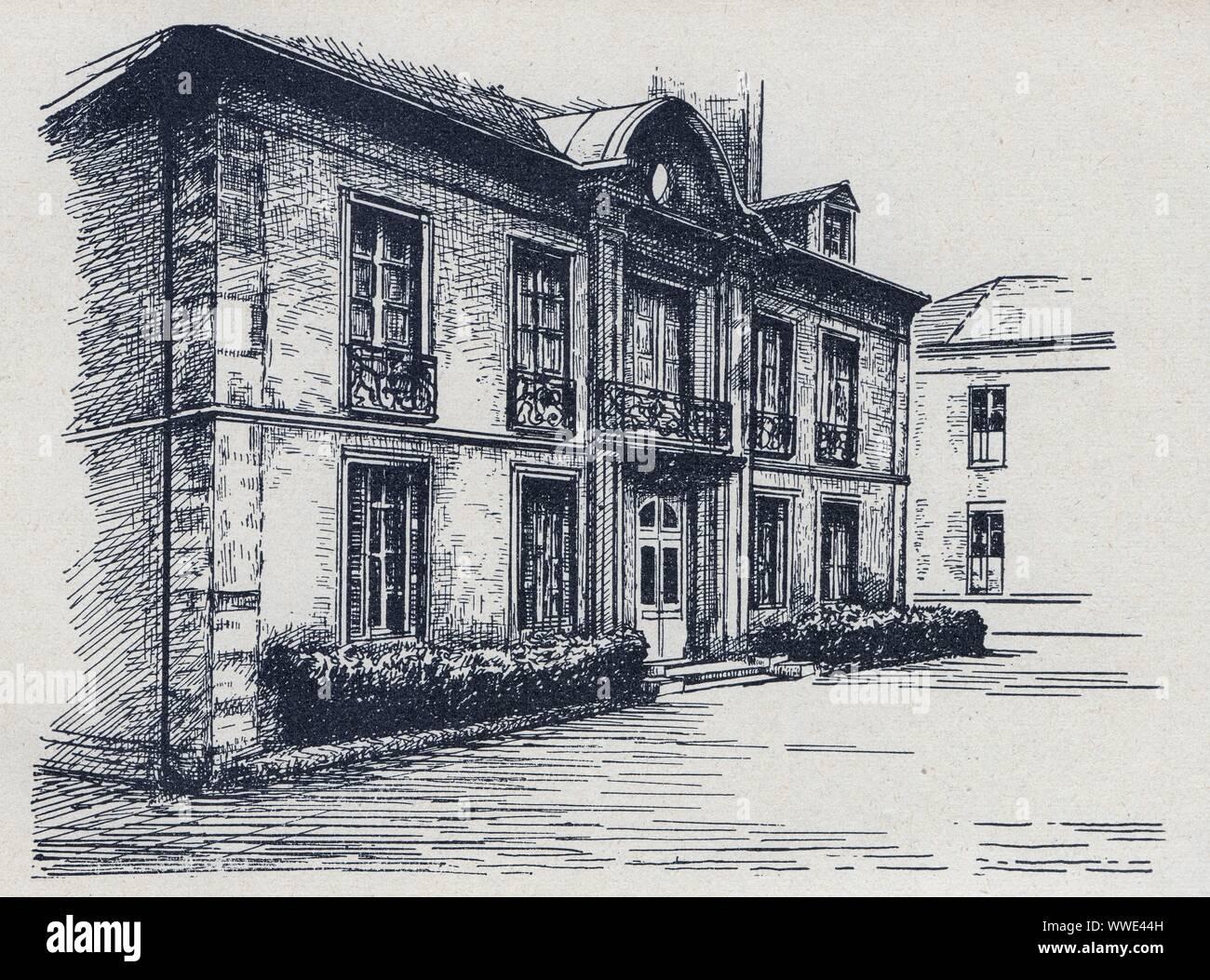 La Maison Bleue Issy Les Moulineaux bazin stock photos & bazin stock images - alamy