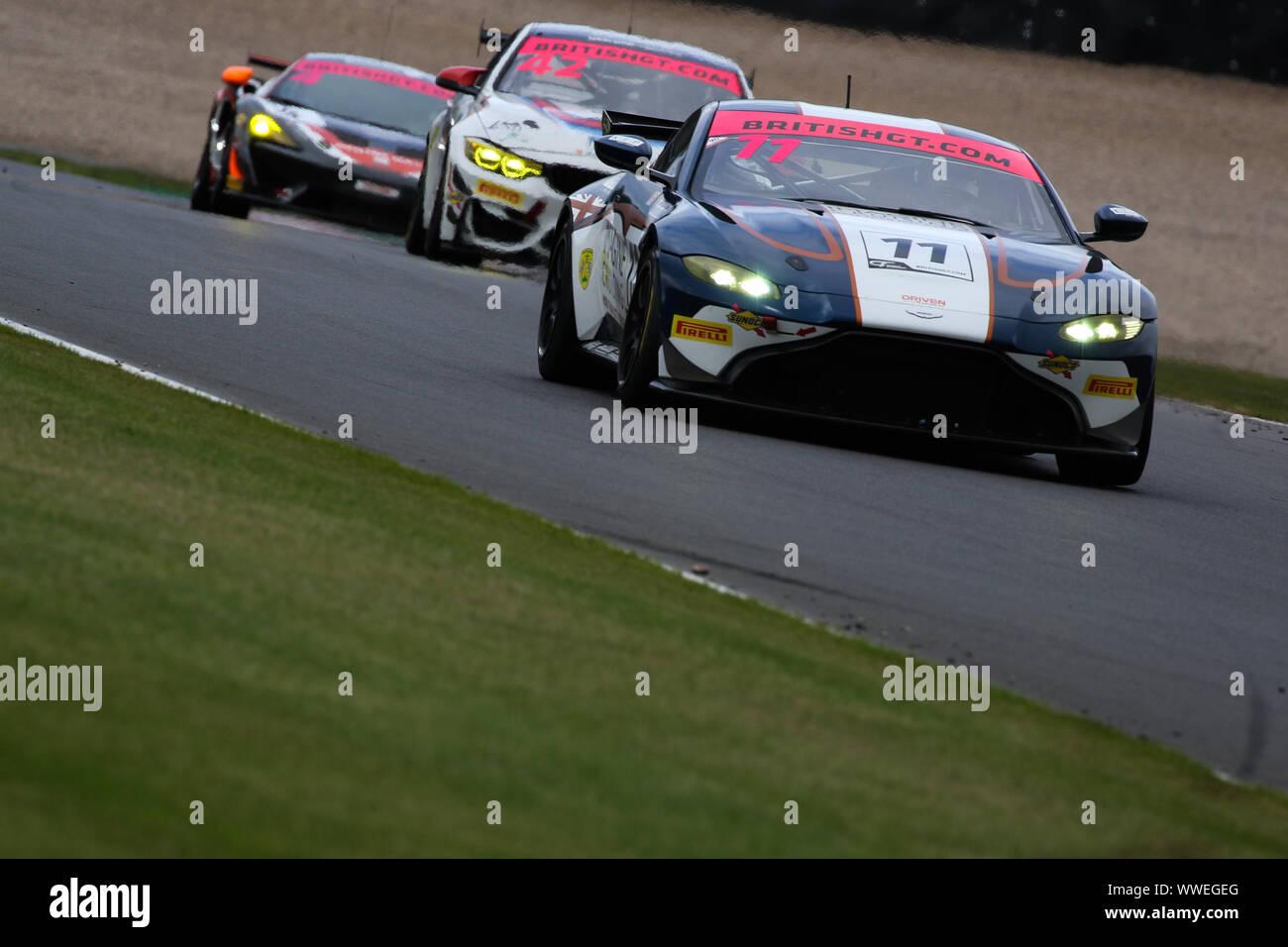 Derby Uk 15th Sep 2019 Beechdean Amr Aston Martin Vantage Amr Gt4 11 Driven By Kelvin