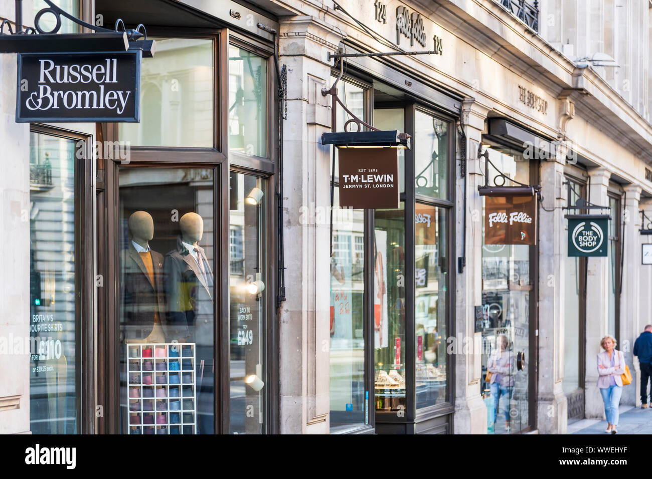 Shops on Regent Streent, London Stock Photo