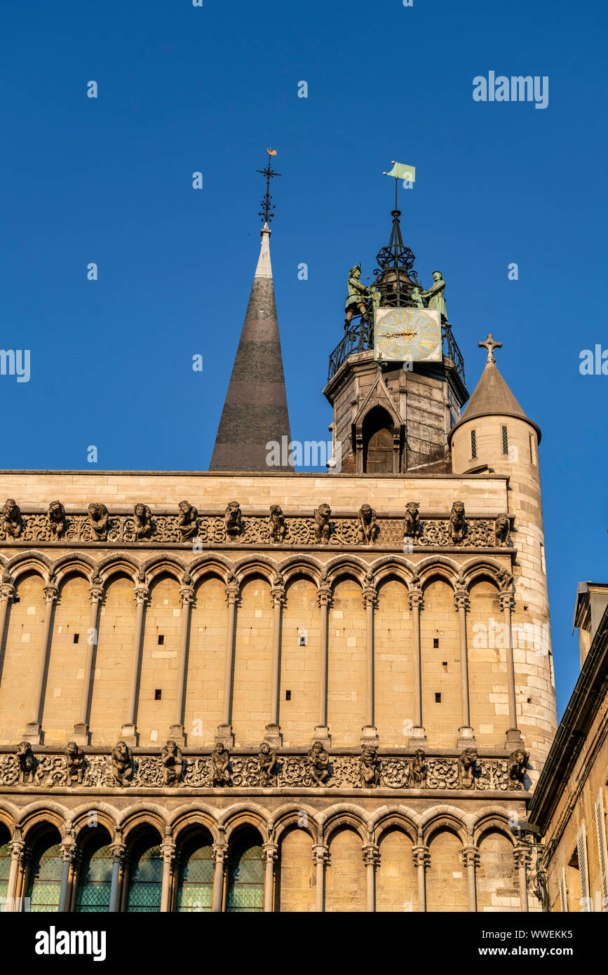 cathedral Notre-Dame, Dijon, Côte d'Or, Burgundy, France, Europe Stock Photo