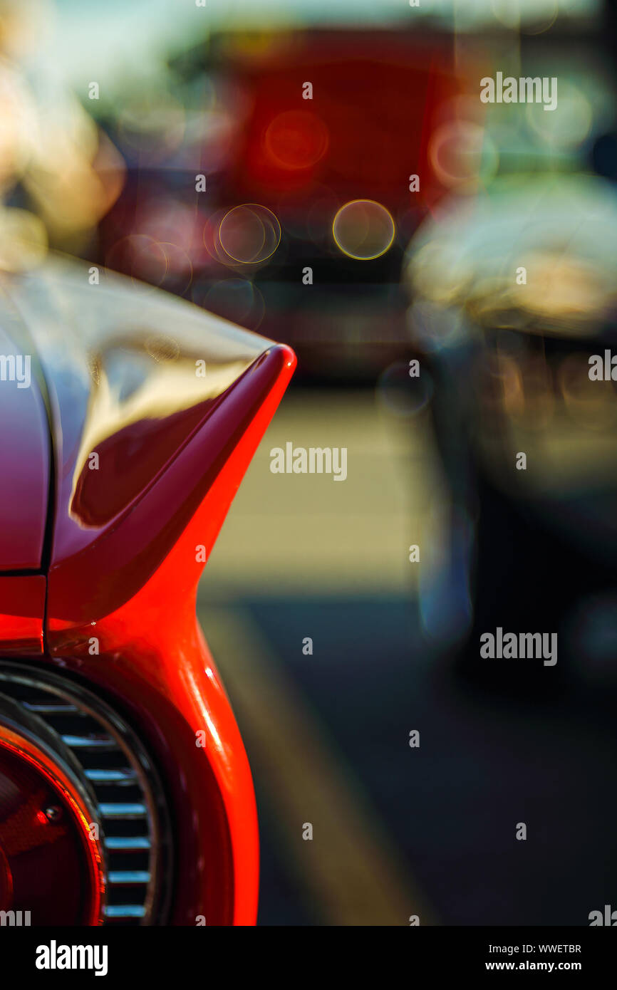 Retro Rear Headlight Lamp Vintage Classic Car Soft Focus Boke Background With Copy Space Close Up View Part Of A Vintage Old Car With Bubble Bokeh Stock Photo Alamy