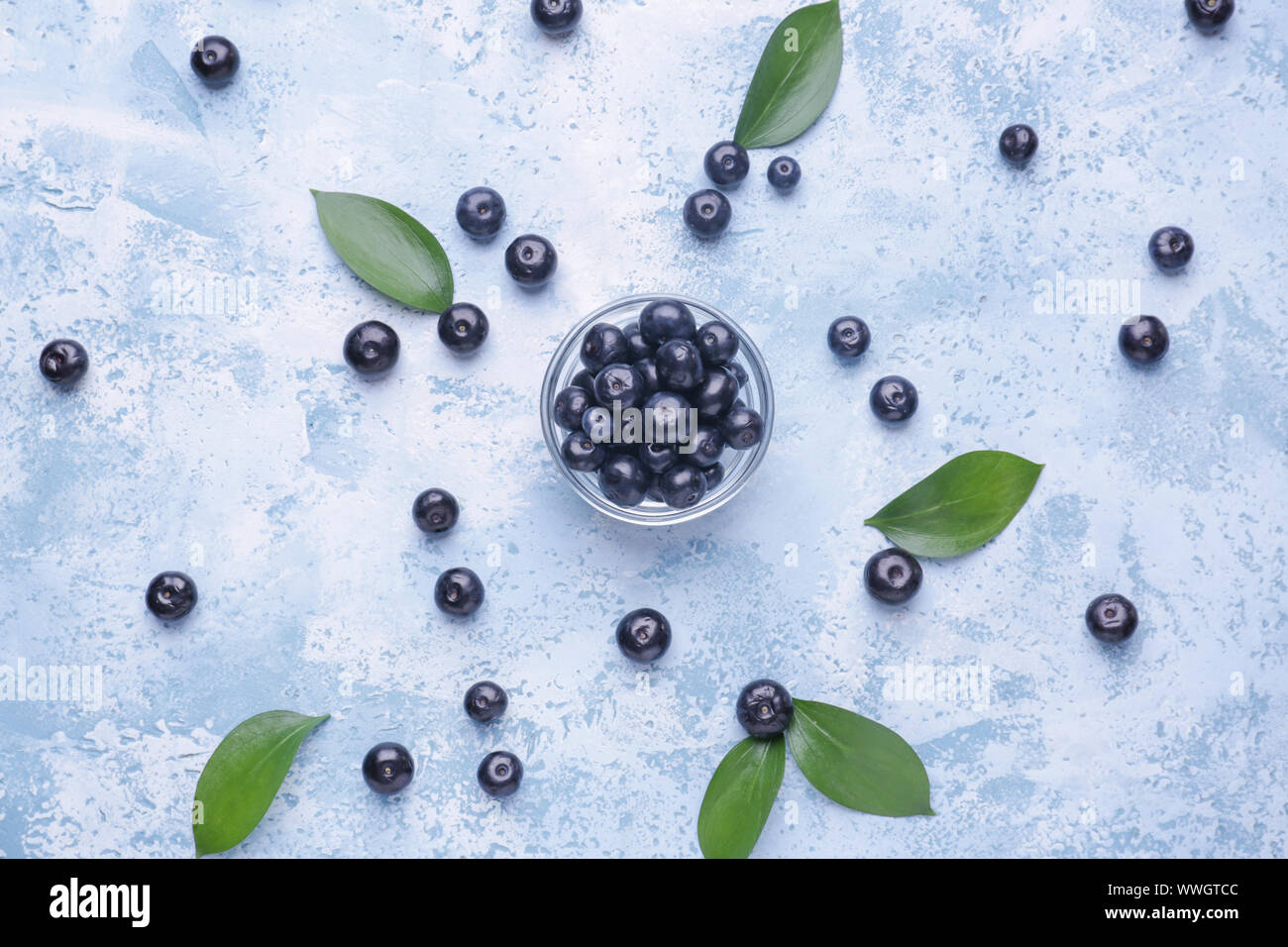 Bowl With Fresh Acai Berries On Color Background Stock Photo Alamy