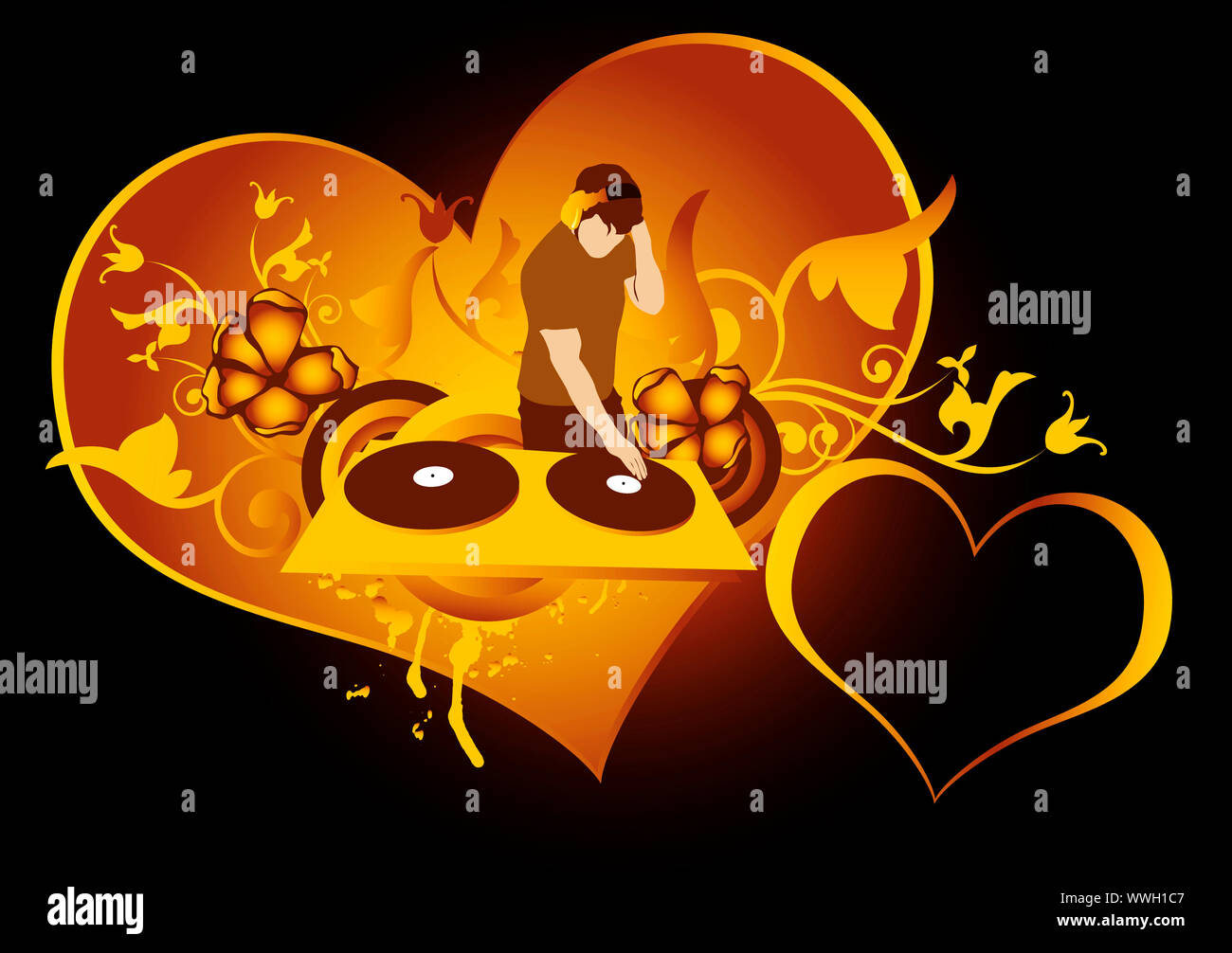 st.Valentines day concept for  discotheque,made from my photo Stock Photo