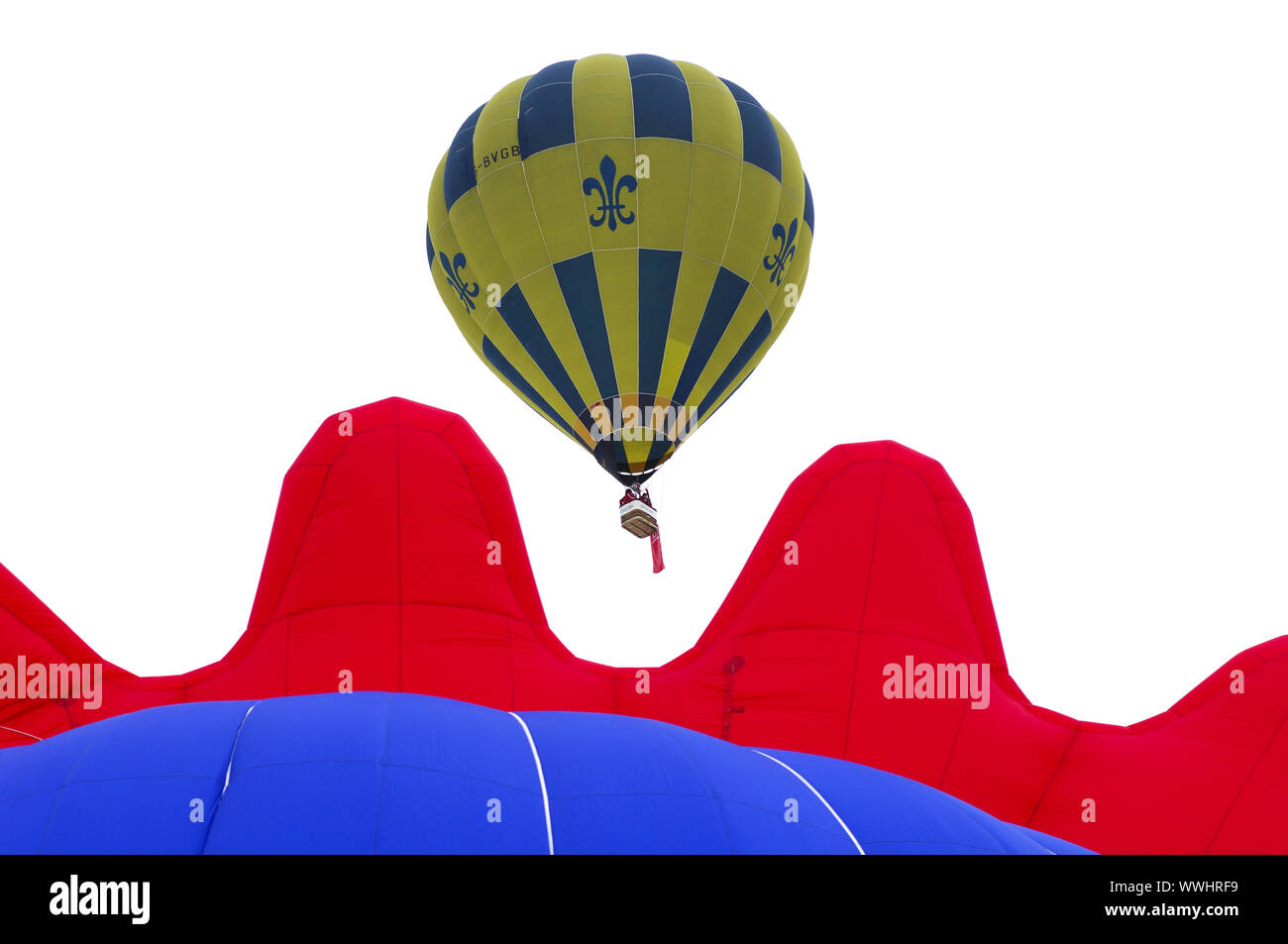 Balloon Thunder & Colt AX8-105 S2 in the air Stock Photo