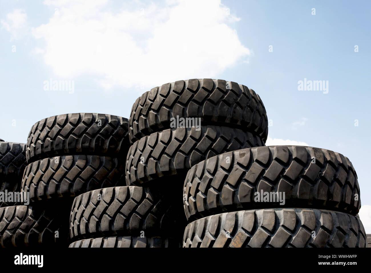 tire stacks Stock Photo