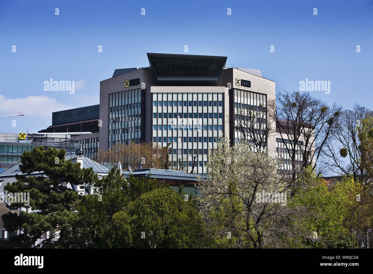 Raiffeisen Zentral Bank Building Vienna, Austria, Europe Stock Photo