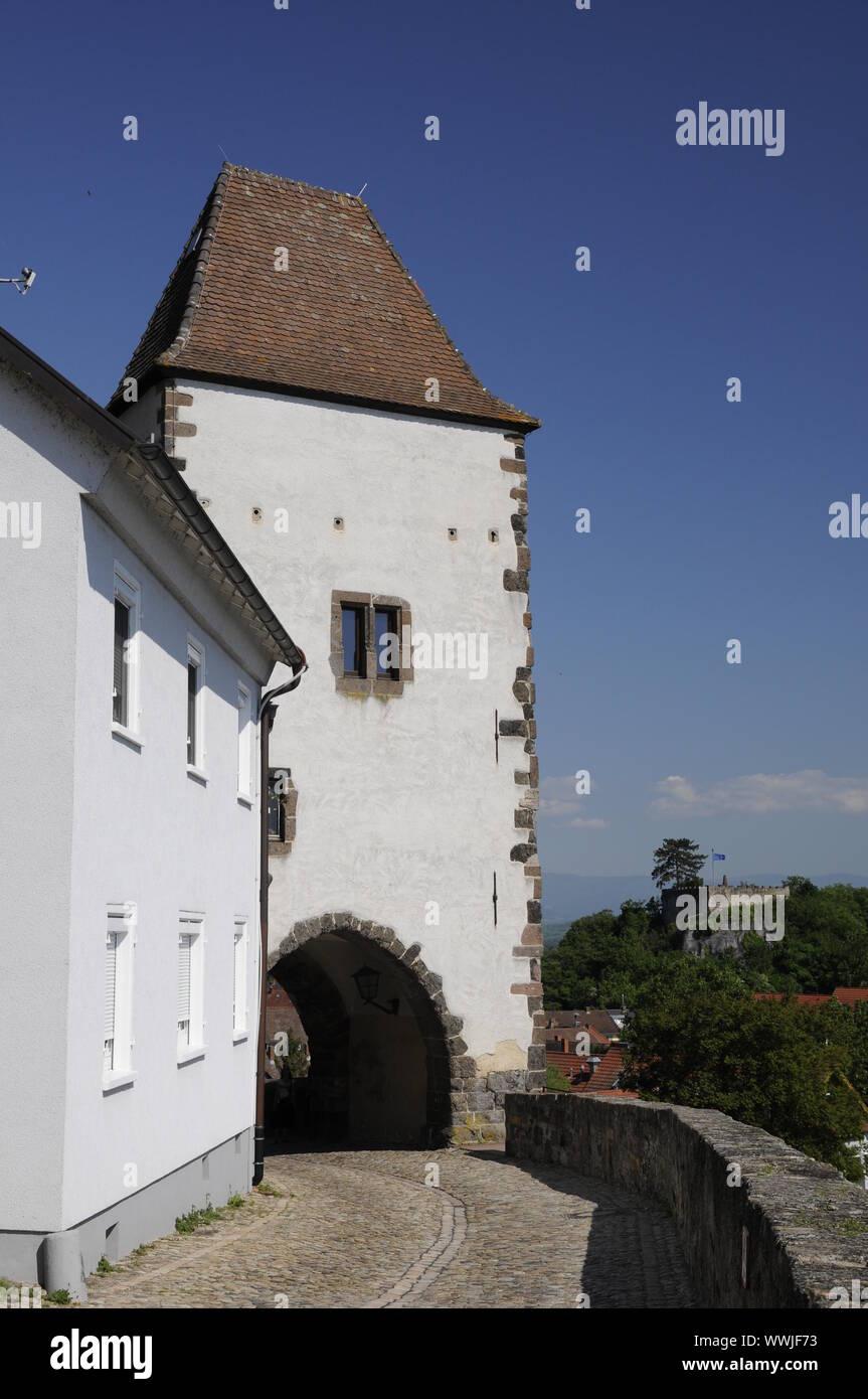 Hagenbach tower in Breisach Stock Photo