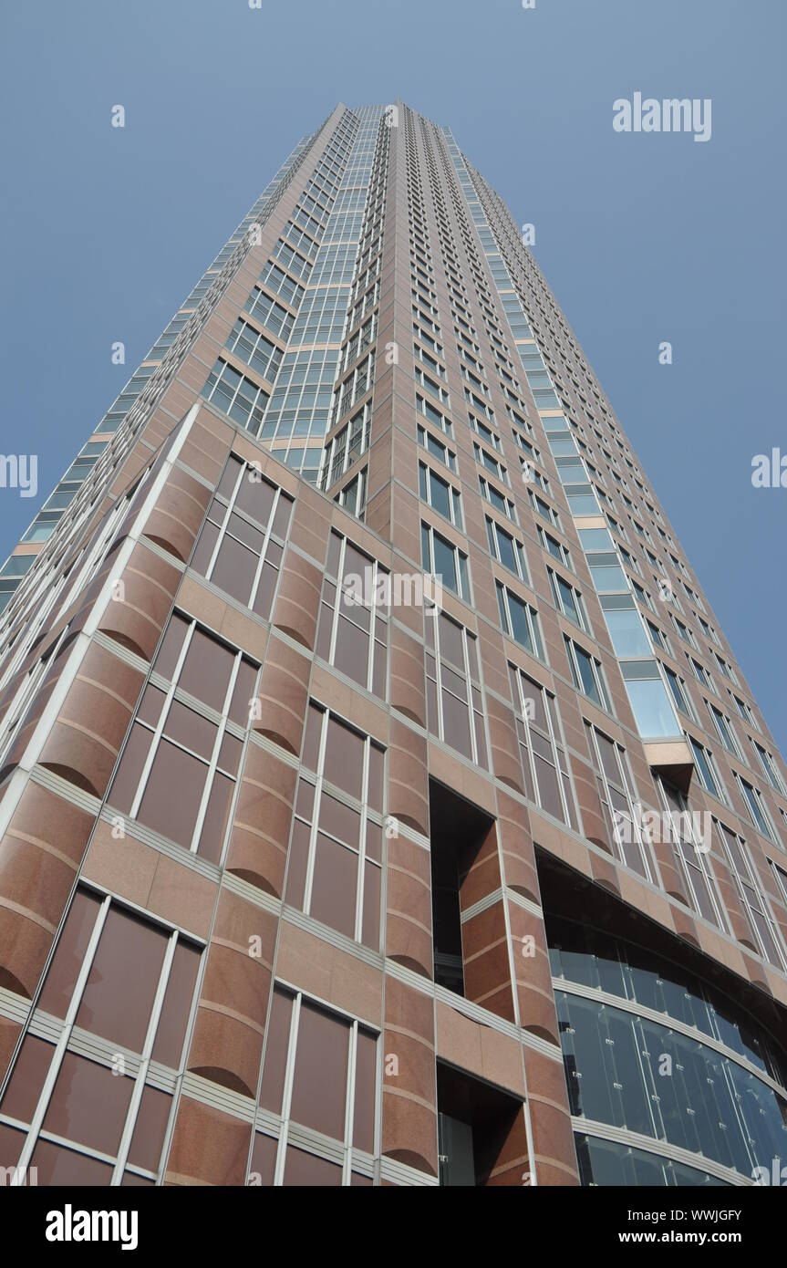 Messeturm in Frankfurt Stock Photo