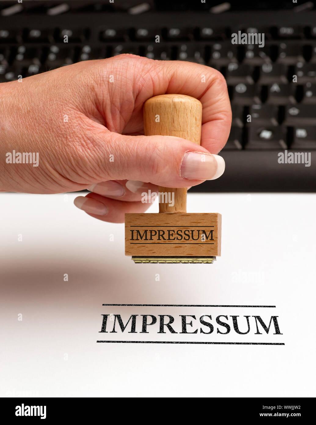 Imprint - Business Concept Stock Photo