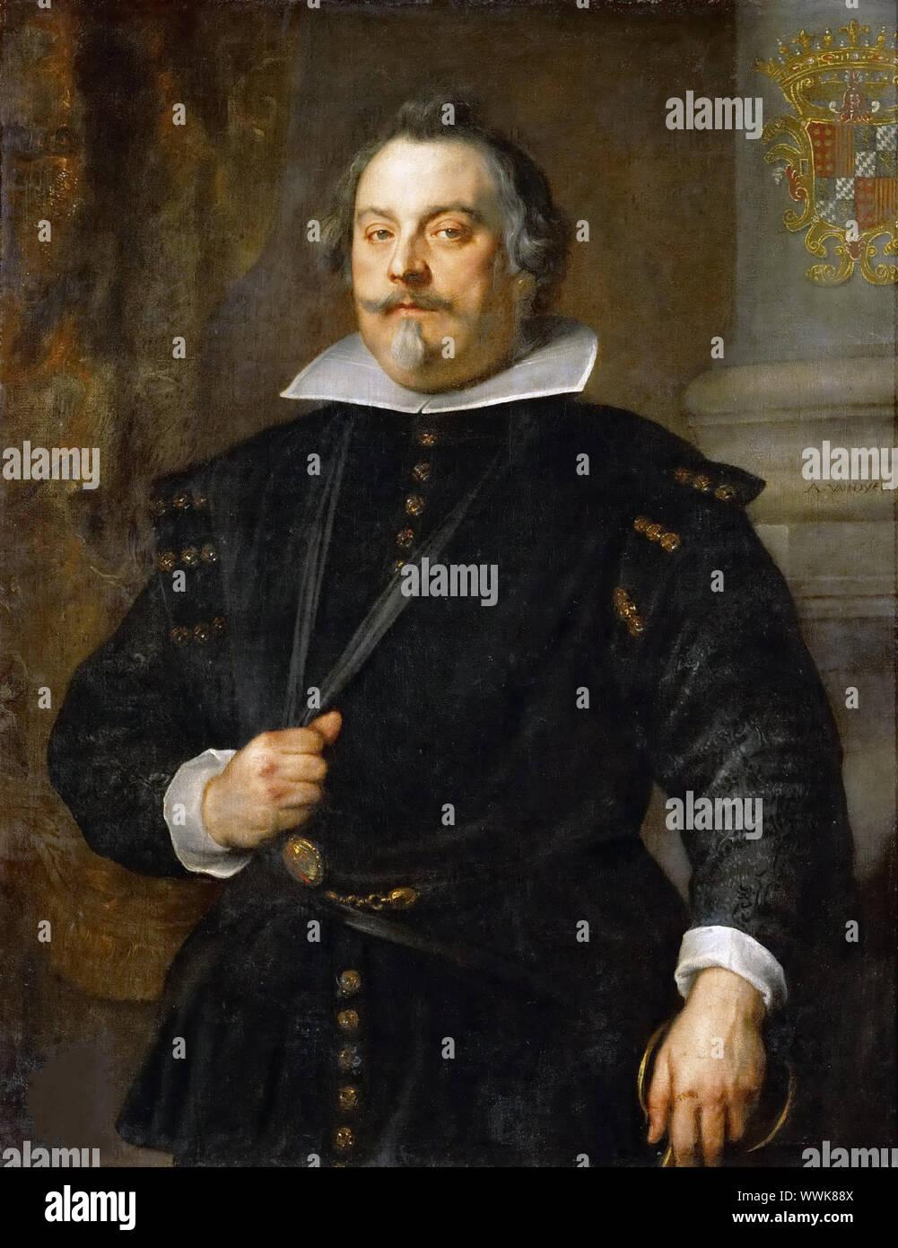 Francisco de Moncada, Marqués de Aytona , ca 1634. Found in the Collection of Art History Museum, Vienne. Stock Photo