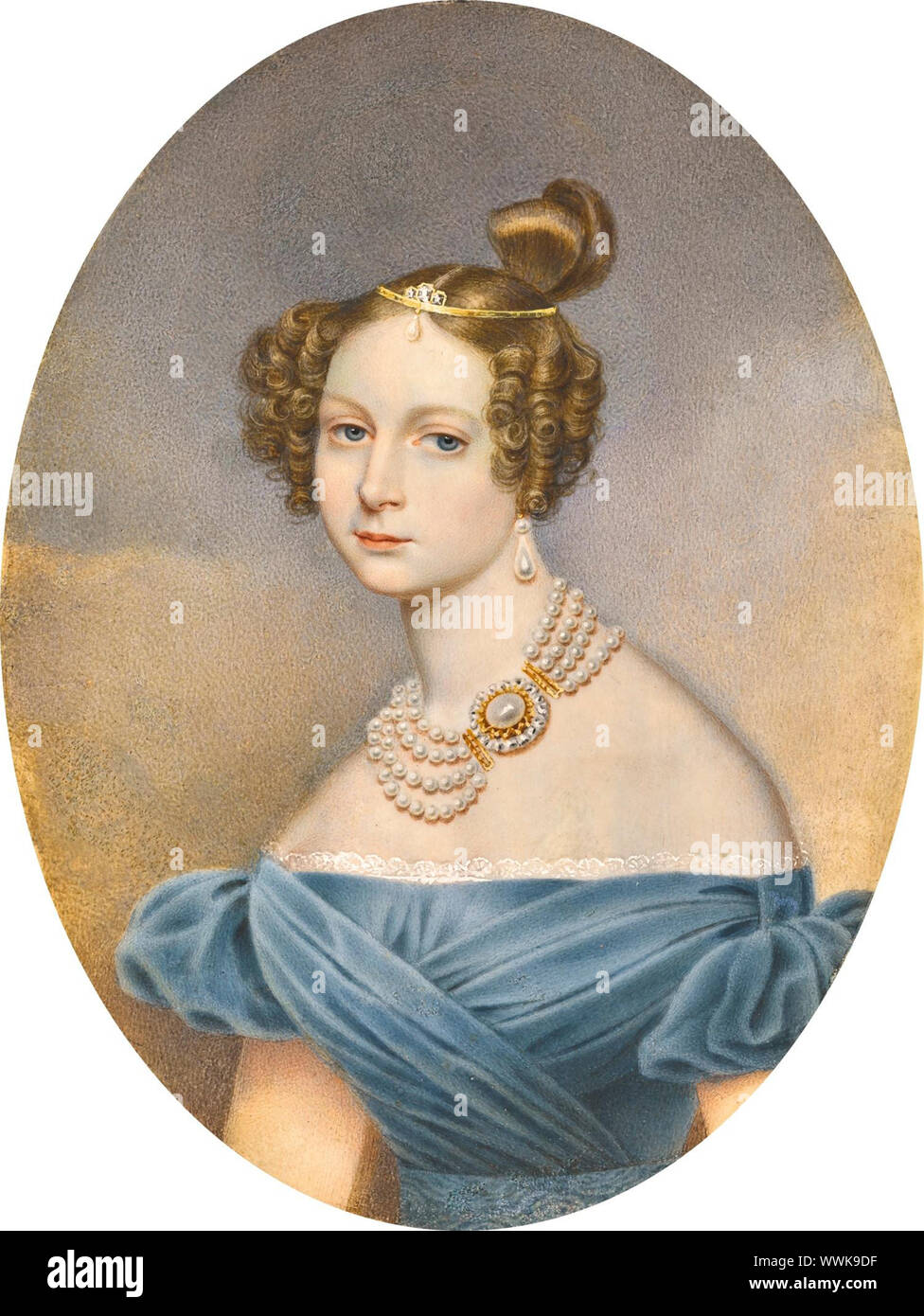 Princess Friederike Charlotte Marie of Württemberg (1807-1873), Grand Duchess Elena Pavlovna of Russia. Private Collection. Stock Photo