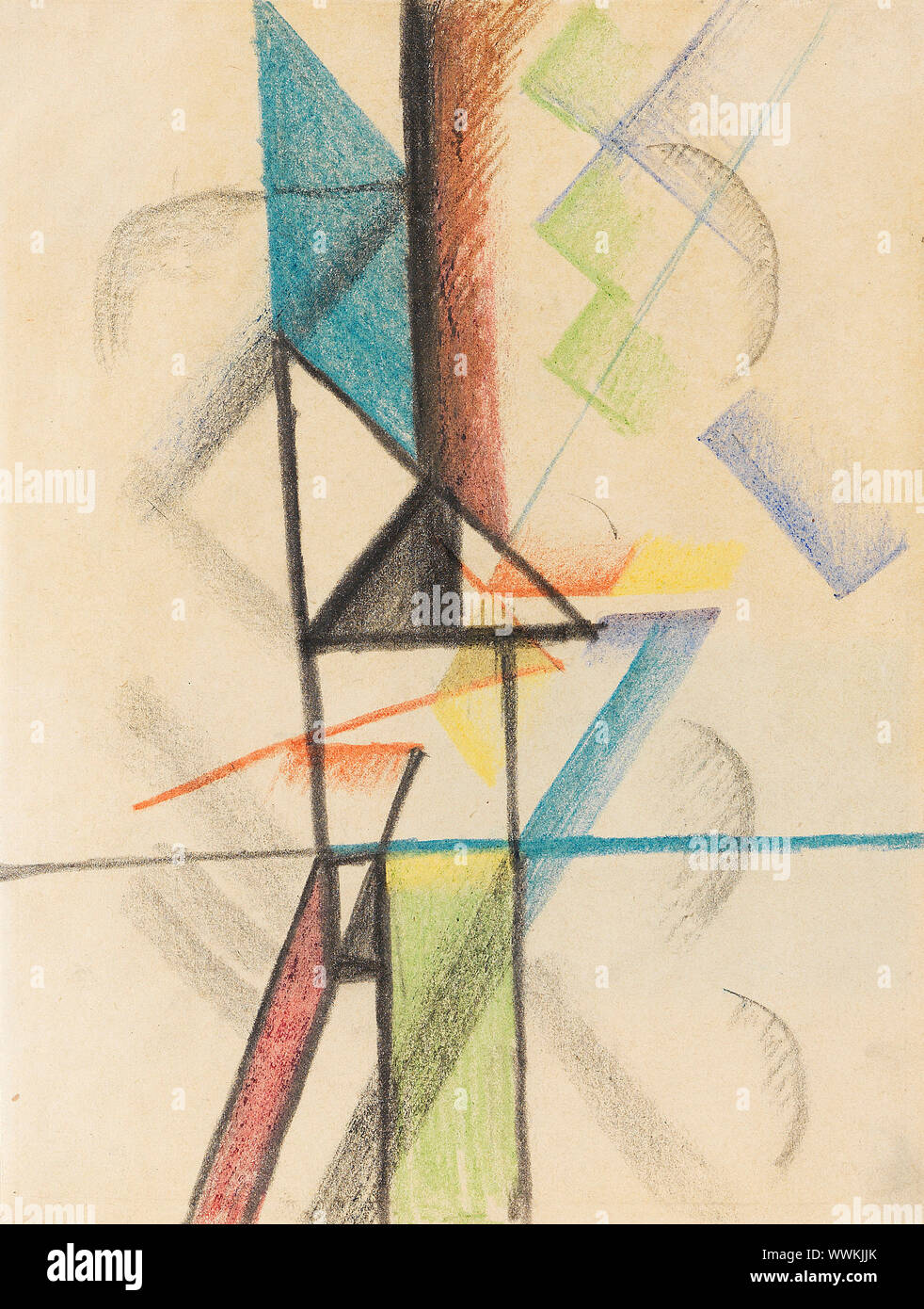 Abstract forms V, 1913. Private Collection. Stock Photo