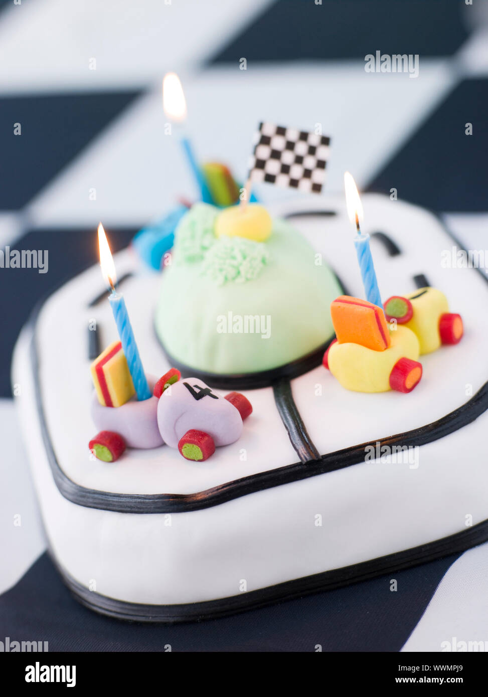 Enjoyable Racing Car Birthday Cake Stock Photo 273978721 Alamy Funny Birthday Cards Online Elaedamsfinfo