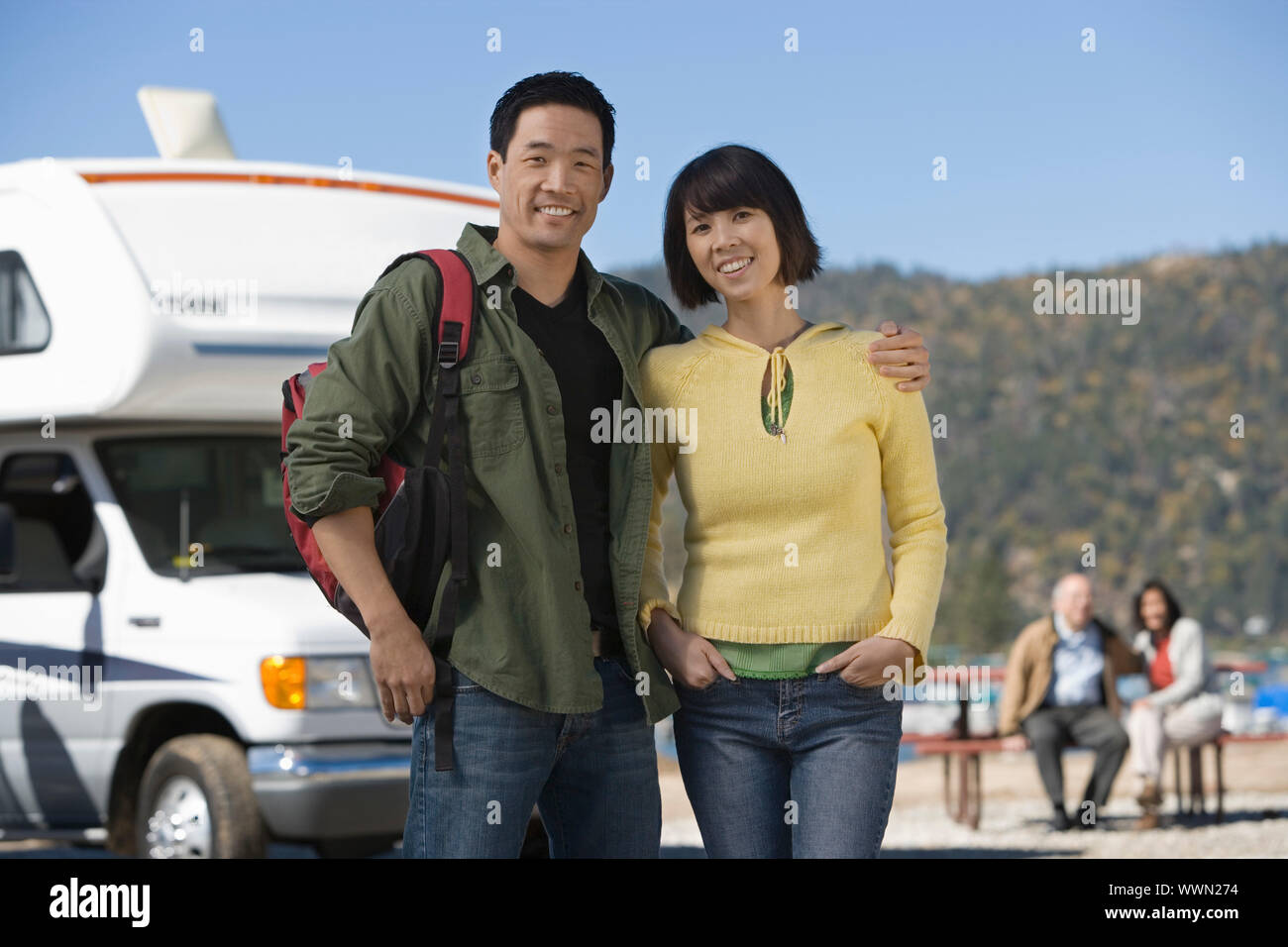 Couples on a Road Trip Stock Photo