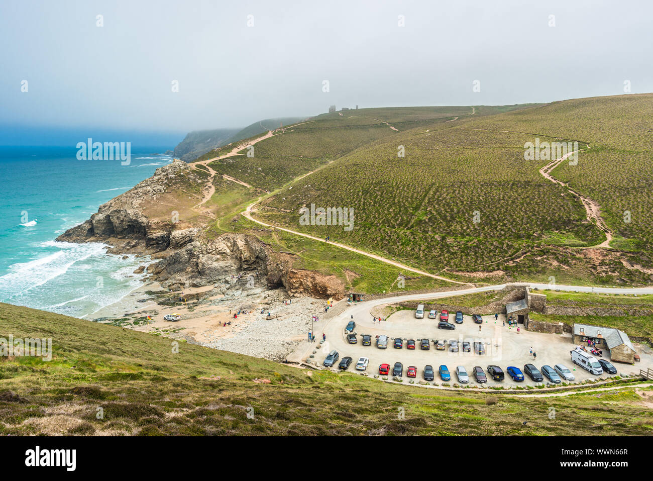 Stunning coastal scenery at Chapel Porth on the St Agnes Heritage coast in Cornwall, England, UK. Stock Photo