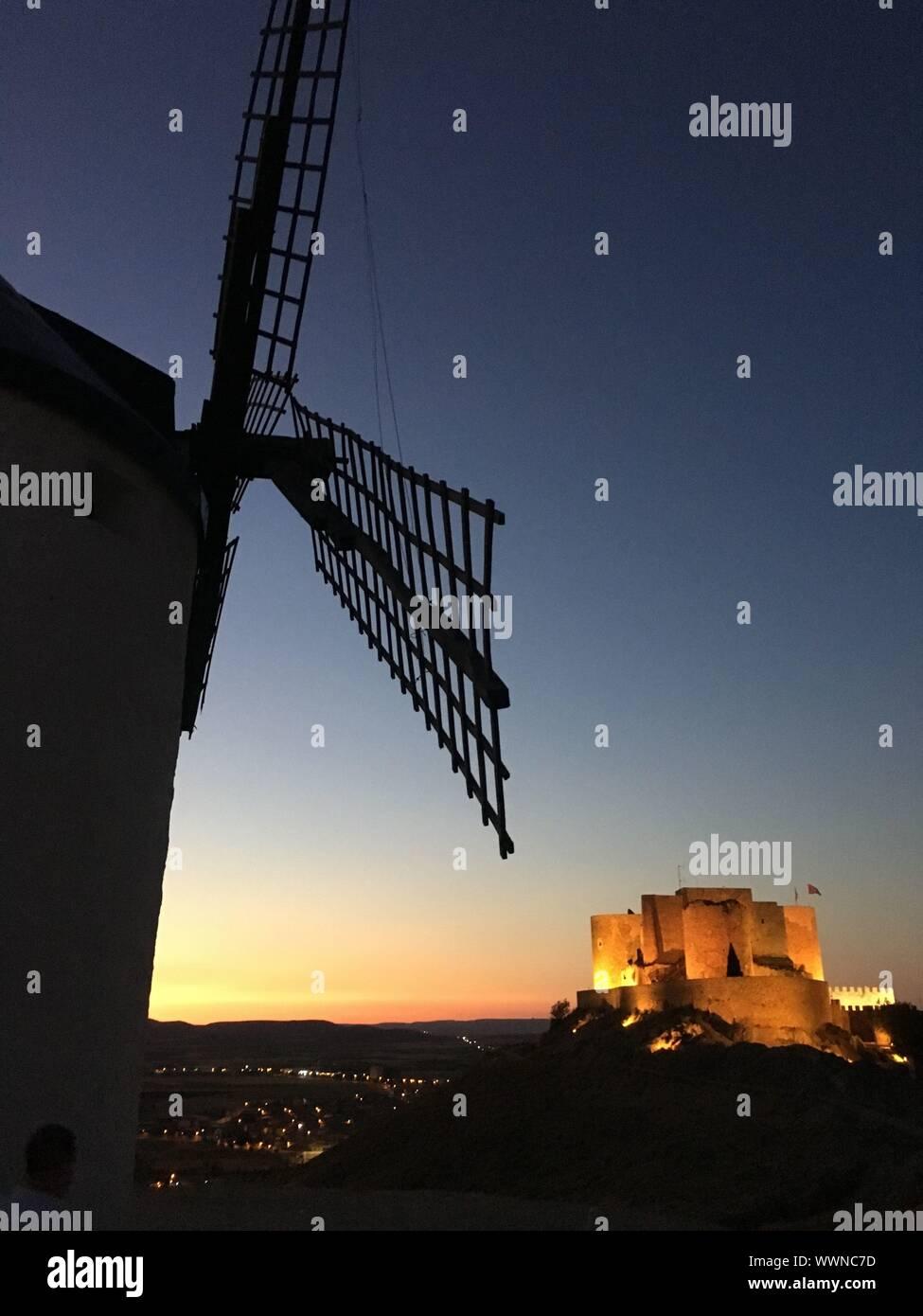 Windmills in Consuegra, Toledo Stock Photo