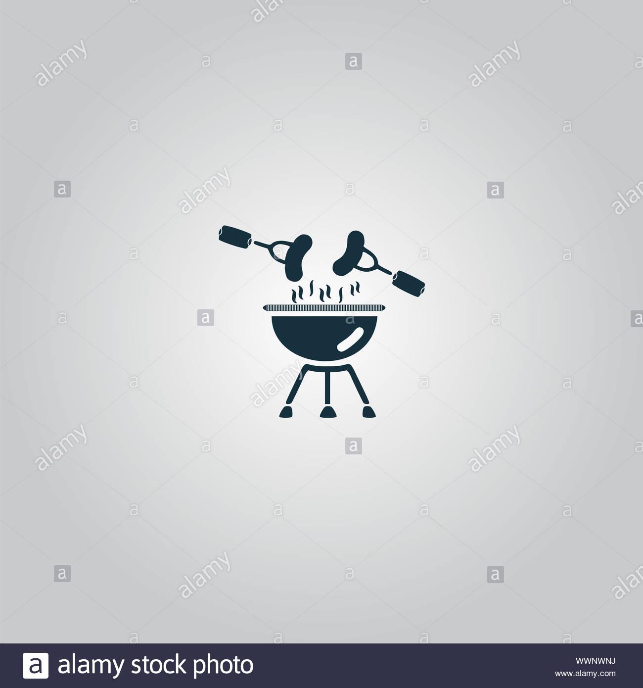 Grill Or Barbecue Icon Stock Photo
