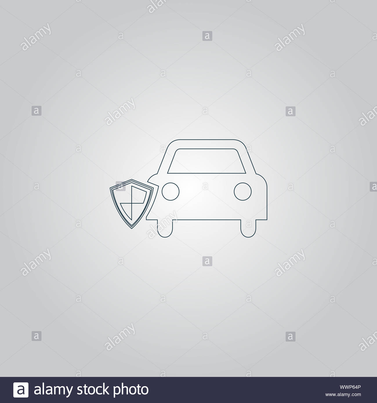 vehicle shield over gray background vector illustration Stock Photo