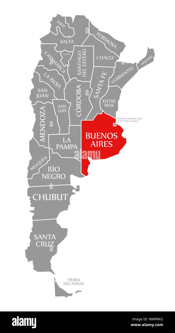 where is buenos aires argentina on the map Buenos Aires Red Highlighted In Map Of Argentina Stock Photo Alamy where is buenos aires argentina on the map