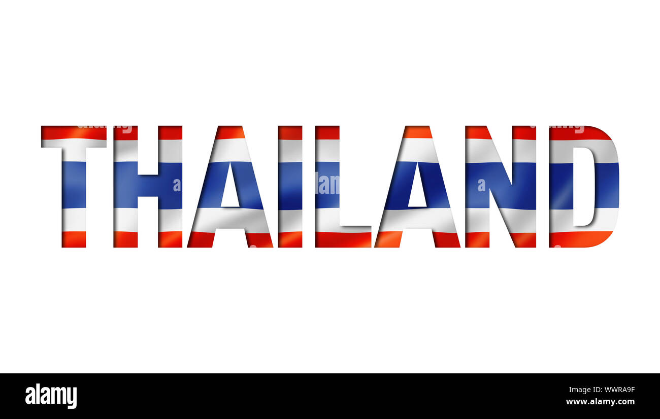 thai flag text font. thailand symbol background Stock Photo ...