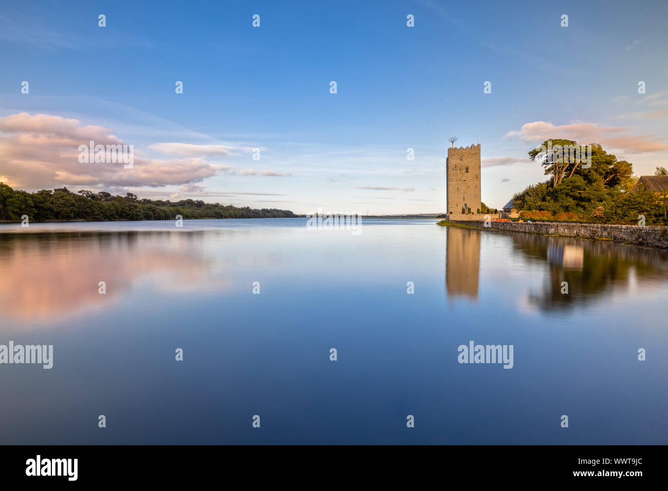 Belvelly Castle in County Cork, Ireland at Sunset Stock Photo