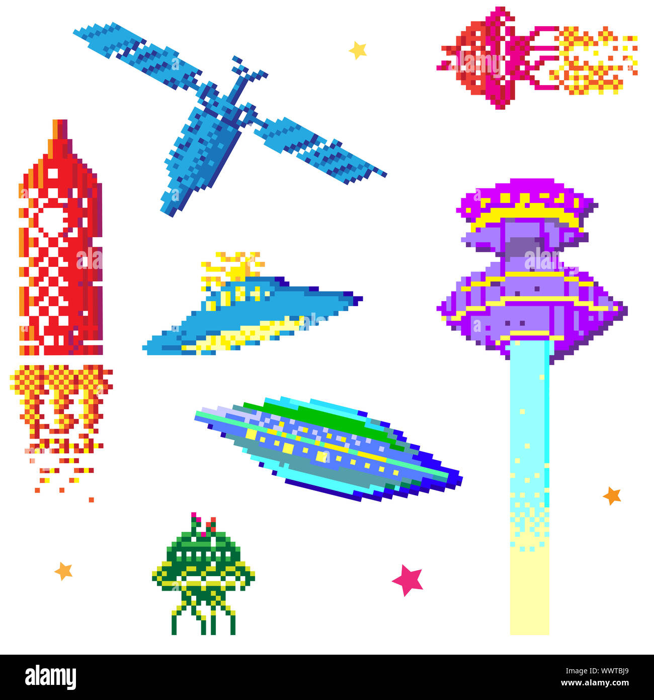 Pixel Art Cut Out Stock Images Pictures Alamy