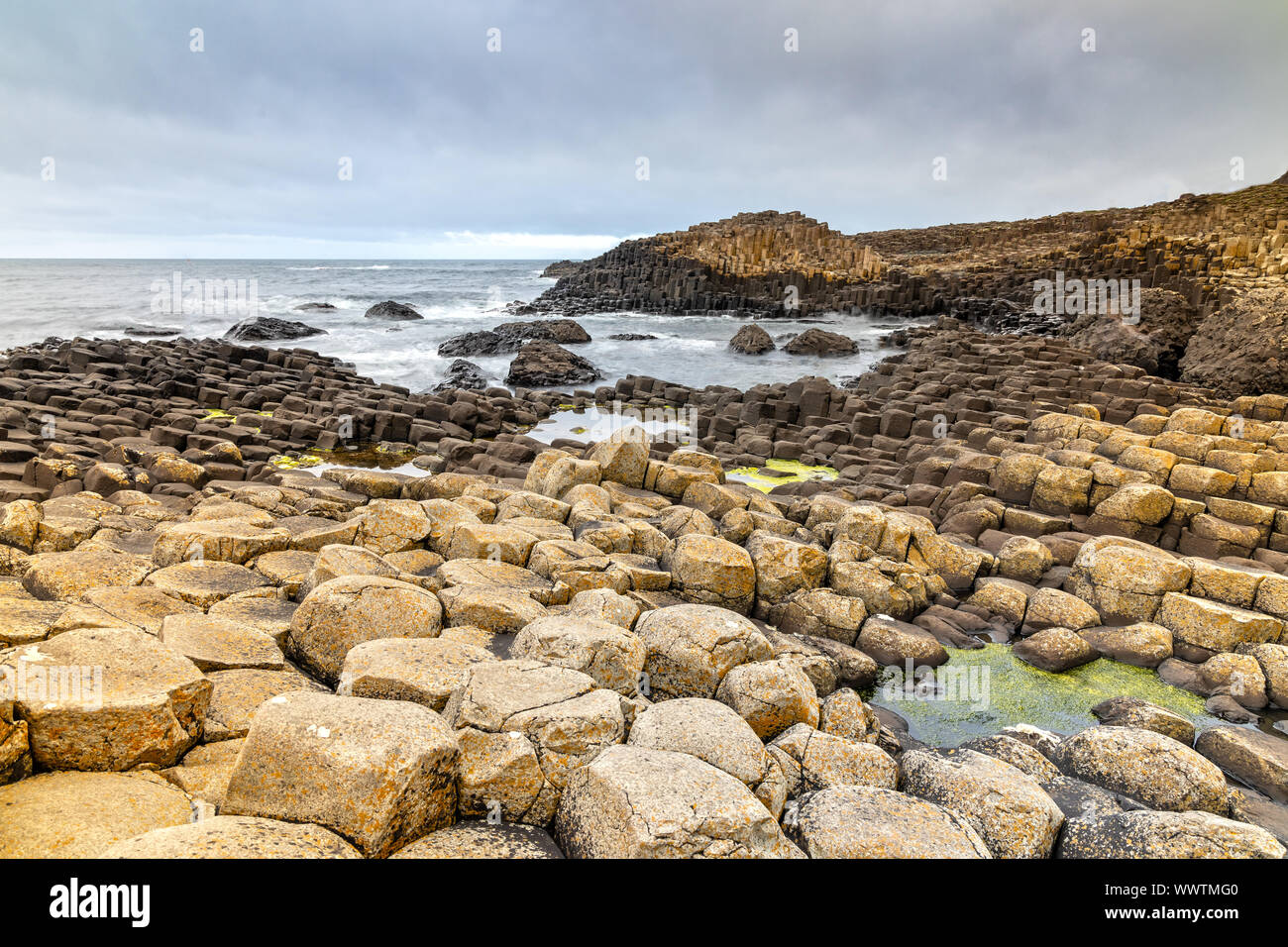 Impression of the Giants Causeway in Northern Ireland Stock Photo