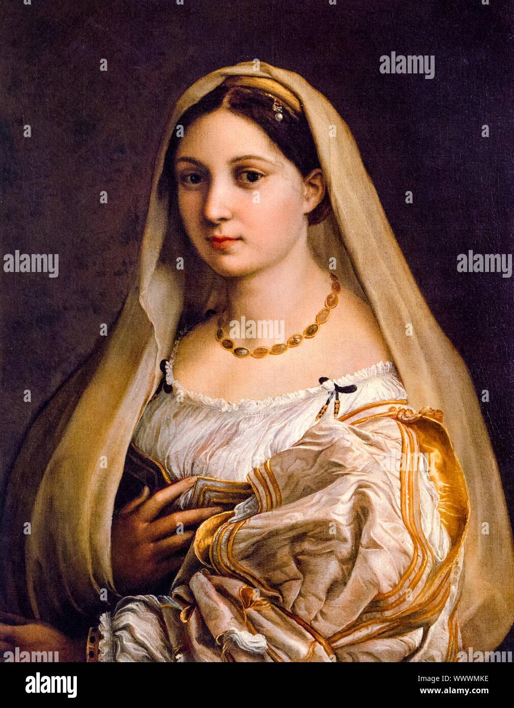 Raphael, Woman with a veil, (La Donna Velata), portrait painting, 1516-1520 Stock Photo