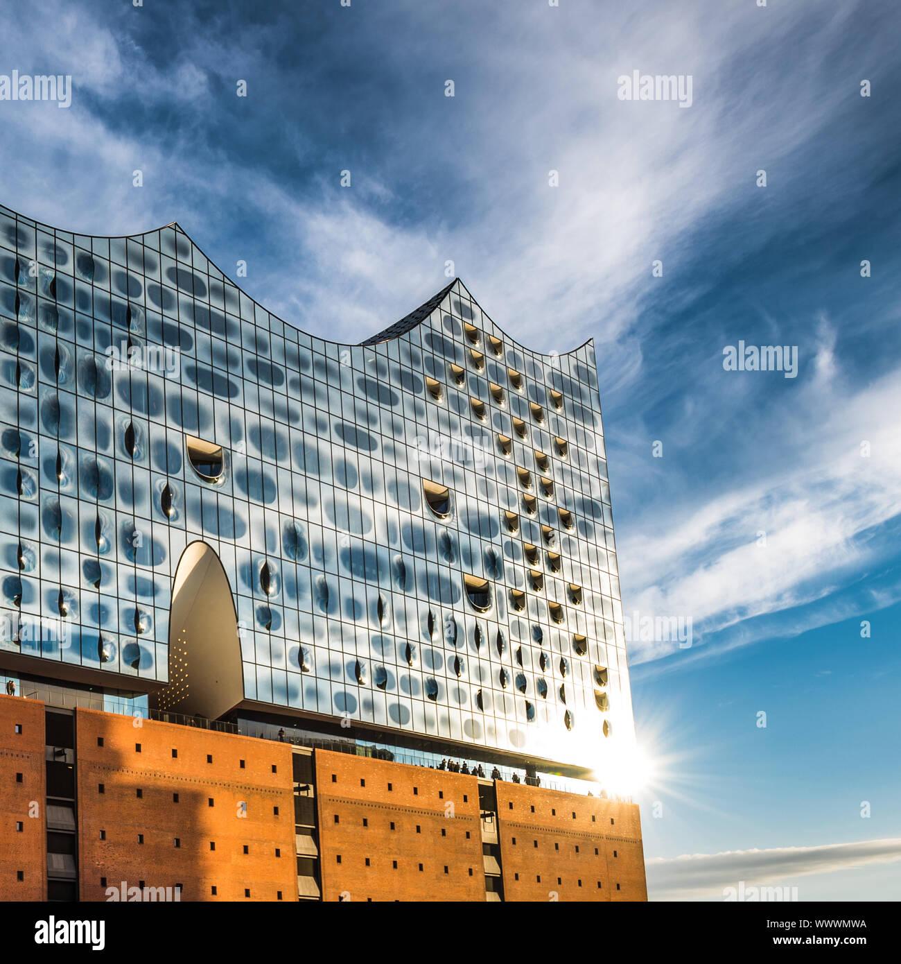 The Elbe Philharmonic Hall or Elbphilharmonie, concert hall in the Hafen City quarter of Hamburg, Germany Stock Photo