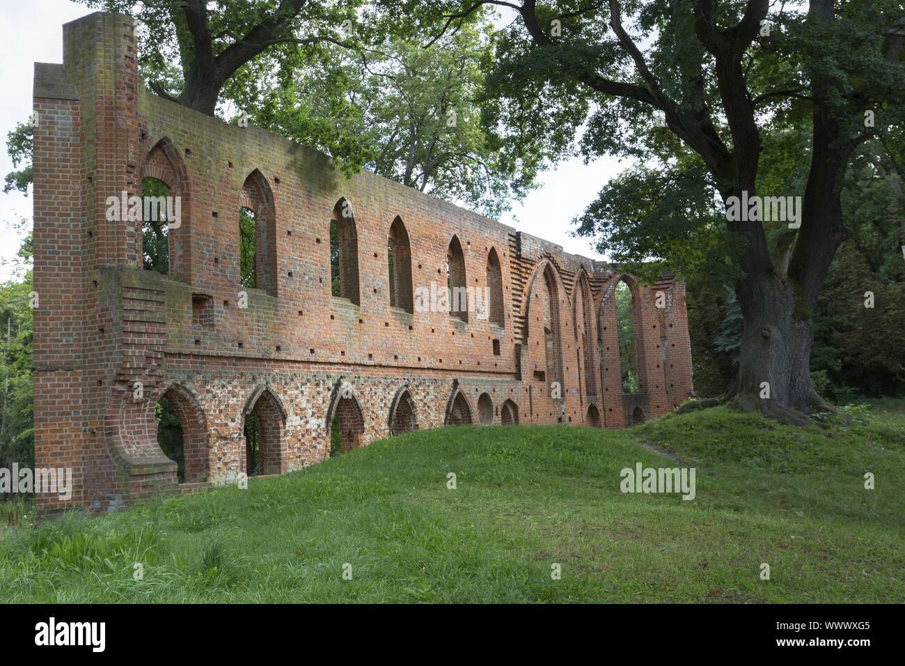 The monastery ruin in Boitzenburg, Uckermark Stock Photo