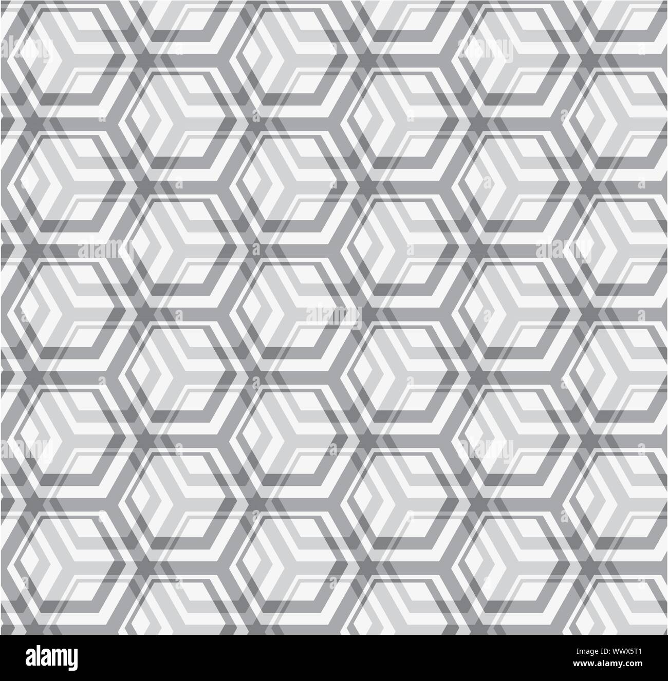 Seamless vector texture - gray hexagons Stock Vector