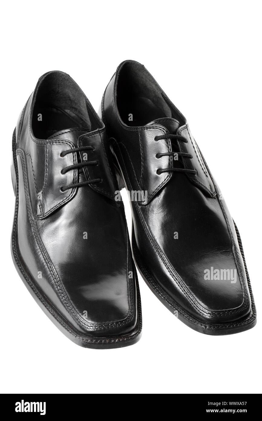 Black men's dress shoes, isolated Stock Photo: 274100659 Alamy