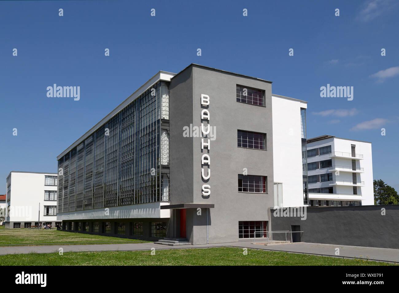 Walter Gropius Bauhaus Building In Dessau Stock Photos