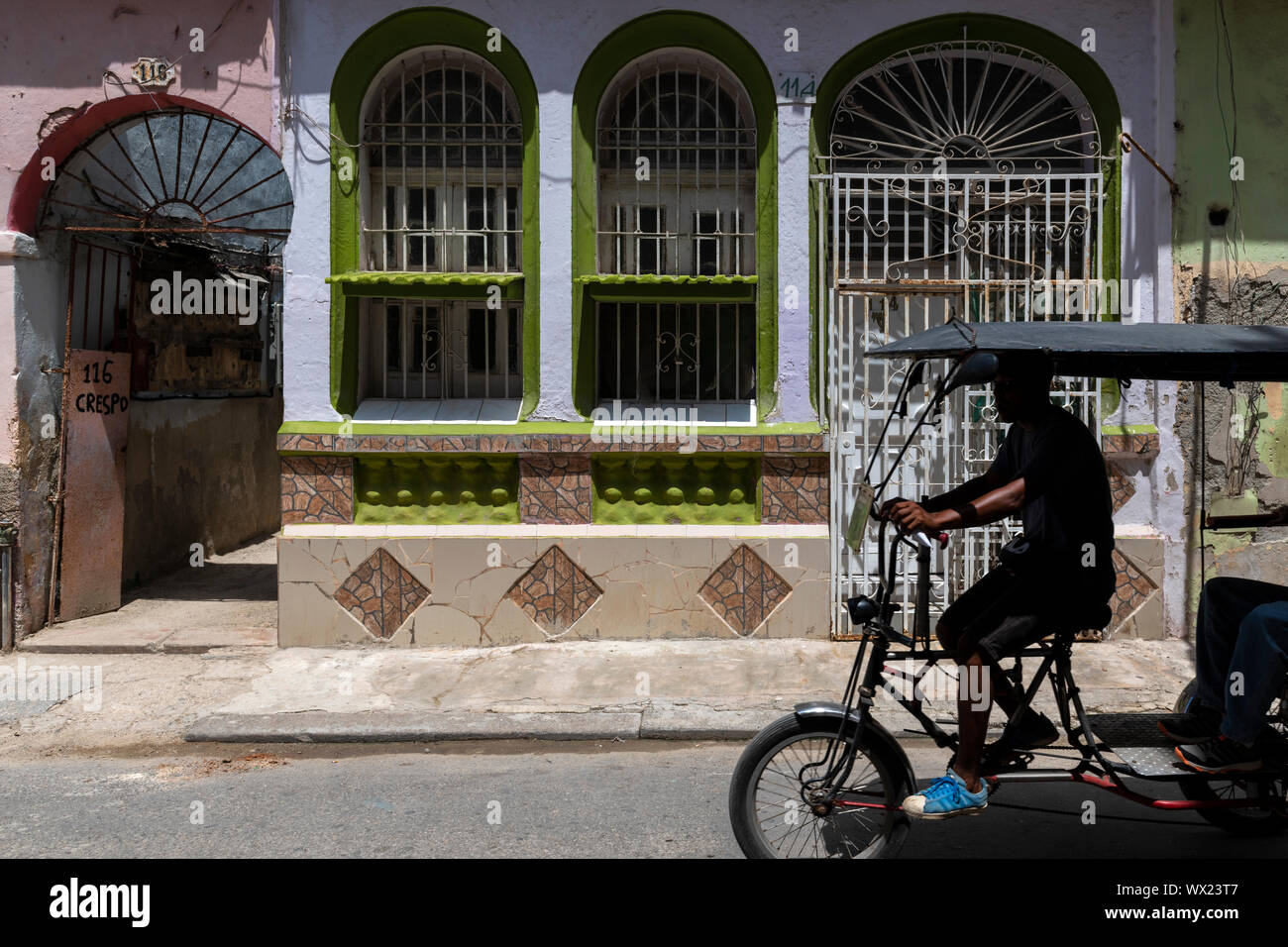 LA HAVANA, CUBA - JUNE  27, 2019: Cuban Colonial Architecture, To venture through Havana is to take a true history lesson of all the styles of archite Stock Photo