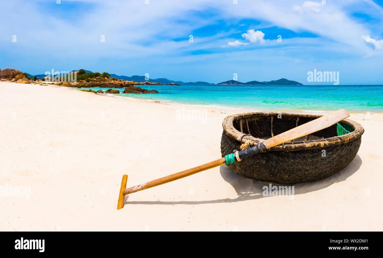 White sand beach. Vietnam Stock Photo