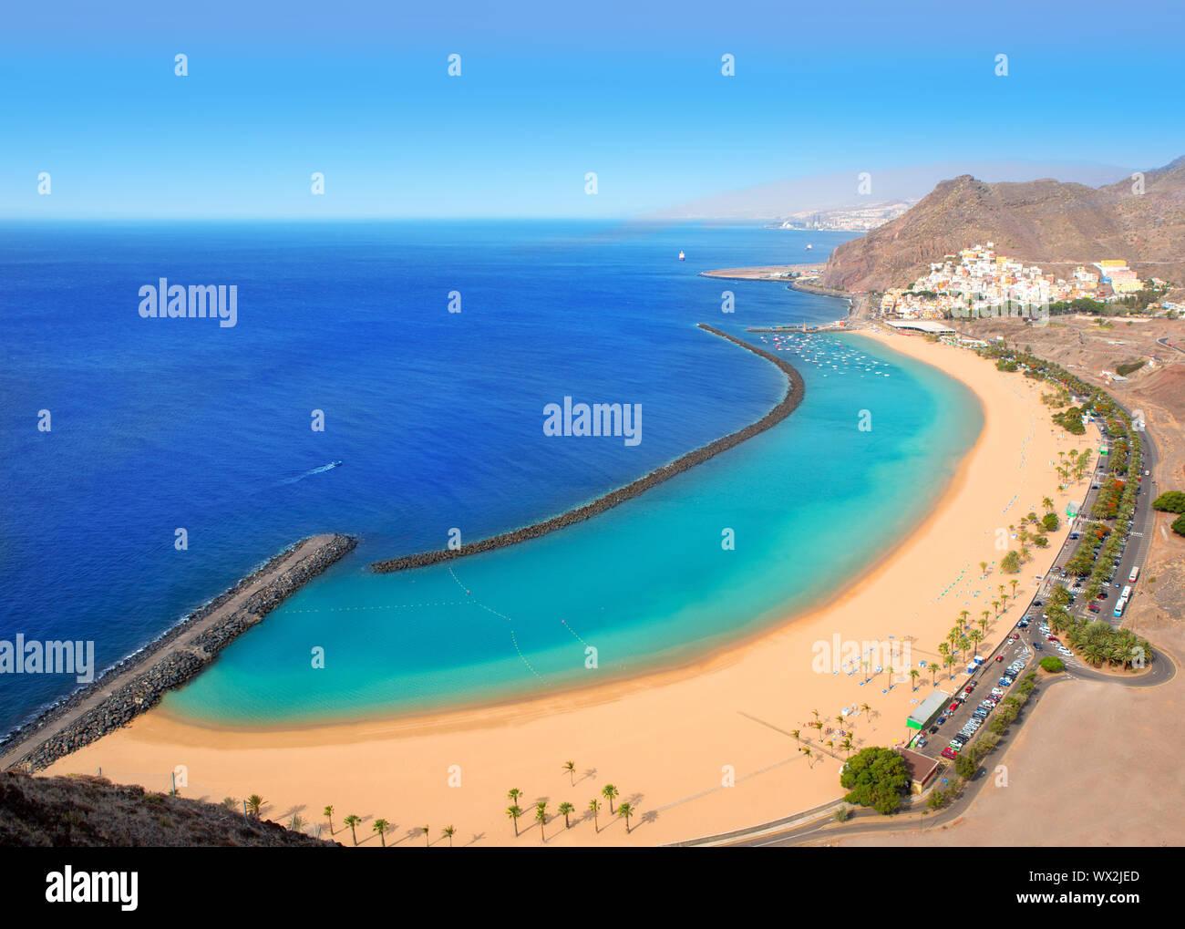 Beach Las Teresitas In Santa Cruz De Tenerife North At Canary