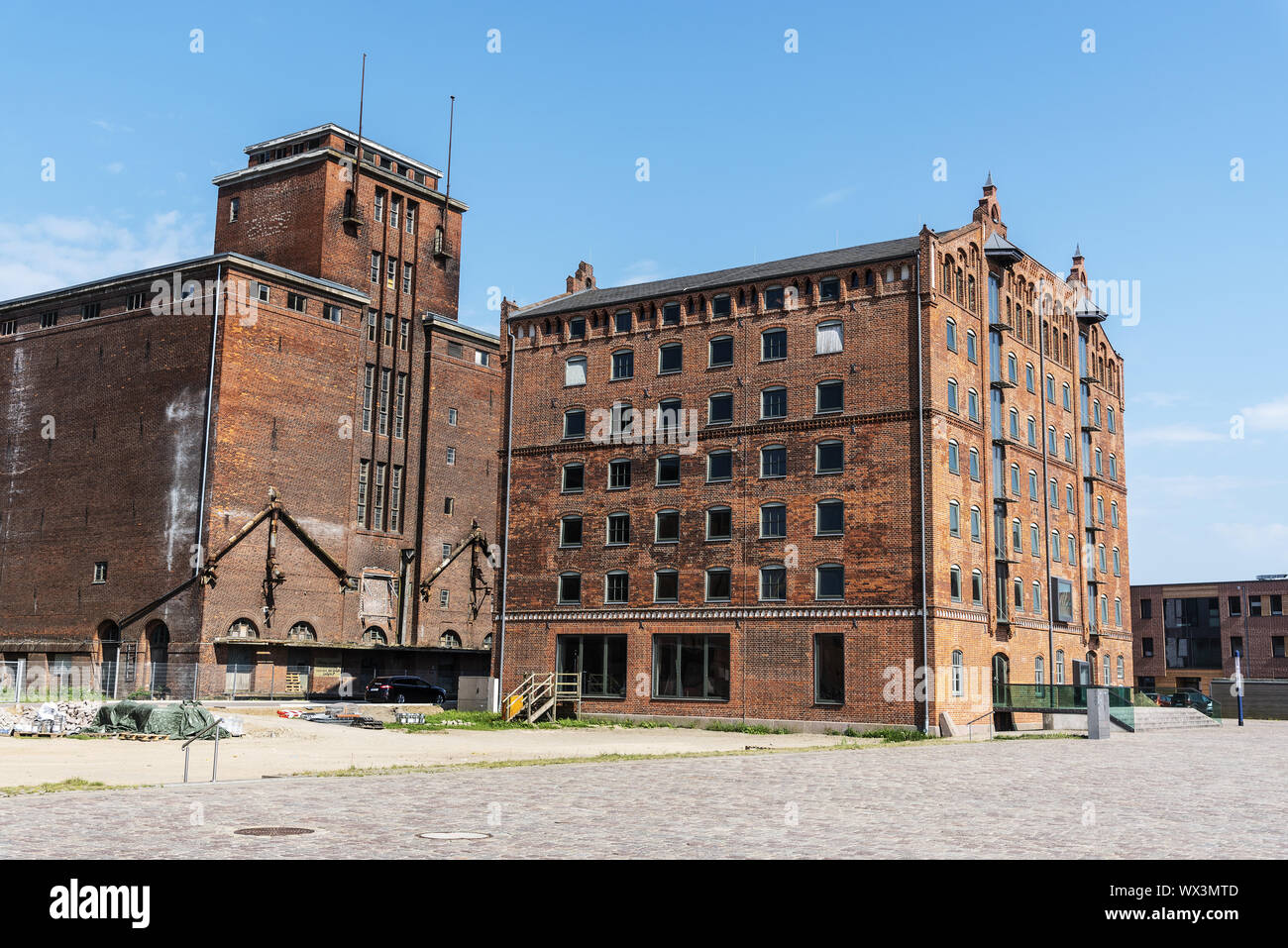 historic store house, old harbour, Wismar, Mecklenburg-Western Pomerania, Germany, Europe Stock Photo