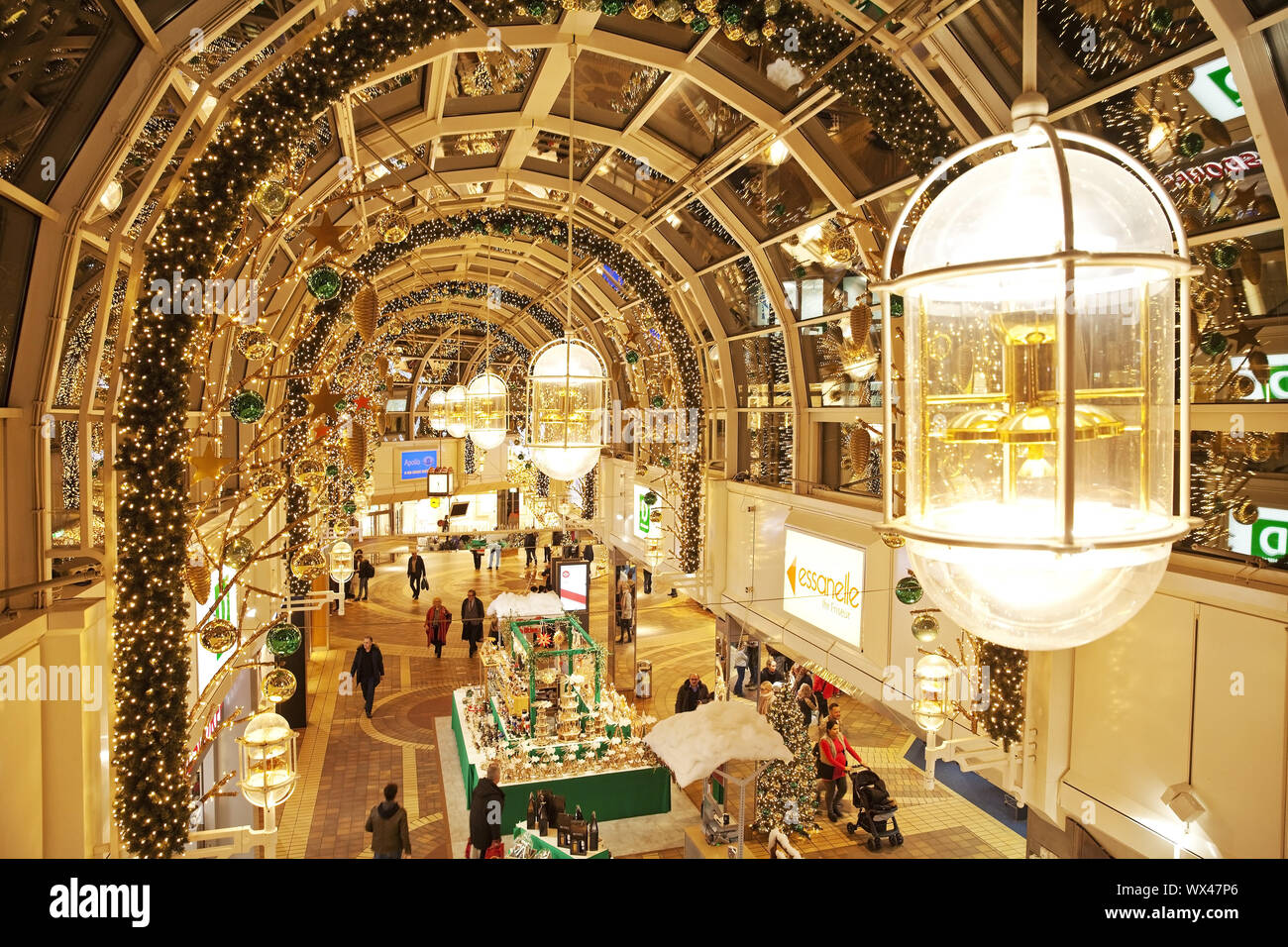 Christmas decoration in the shopping centre Allee Center, Alt-Remscheid, Remscheid, Germany, Europe Stock Photo