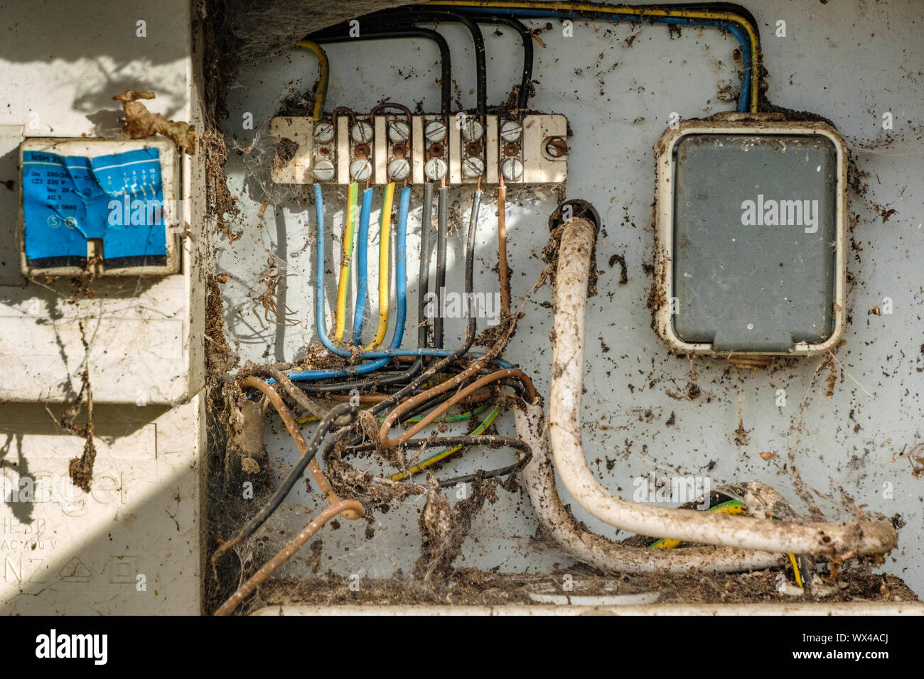 Danger of electric shock Stock Photo