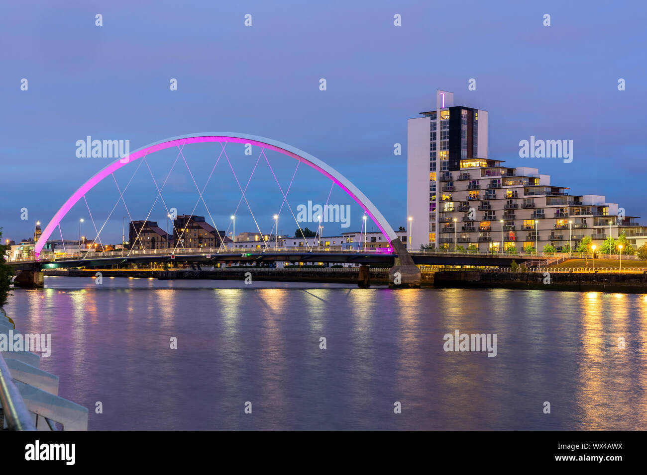 Clyde Arc Bridge Glasgow Stock Photo