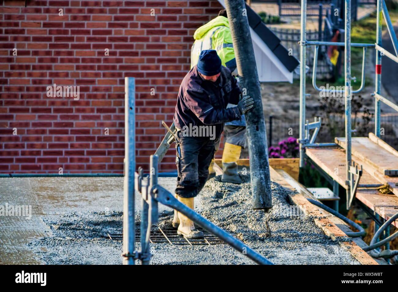 concreting Stock Photo