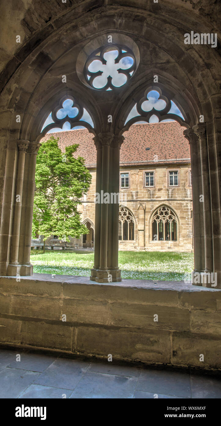 well conserved medieval abbey maulbronn window Stock Photo
