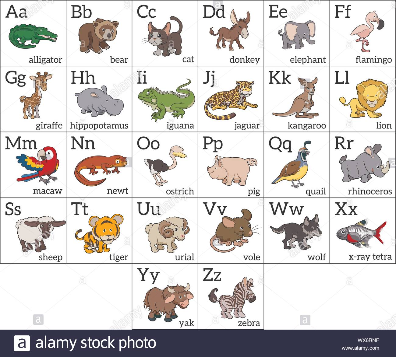 Abc Chart High Resolution Stock Photography And Images Alamy The alphabet chart is a free resource for teachers, parents, studens our handy abc chart is the simplest alphabet chart available to get back to teaching and. https www alamy com cartoon animal alphabet chart image274286923 html
