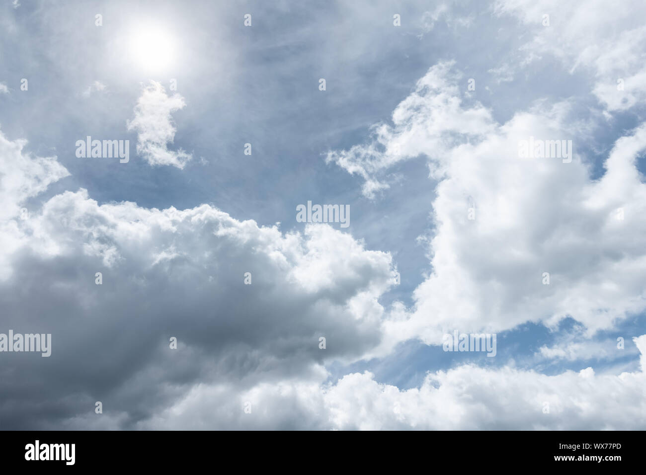 natural HDR sky sun background Stock Photo