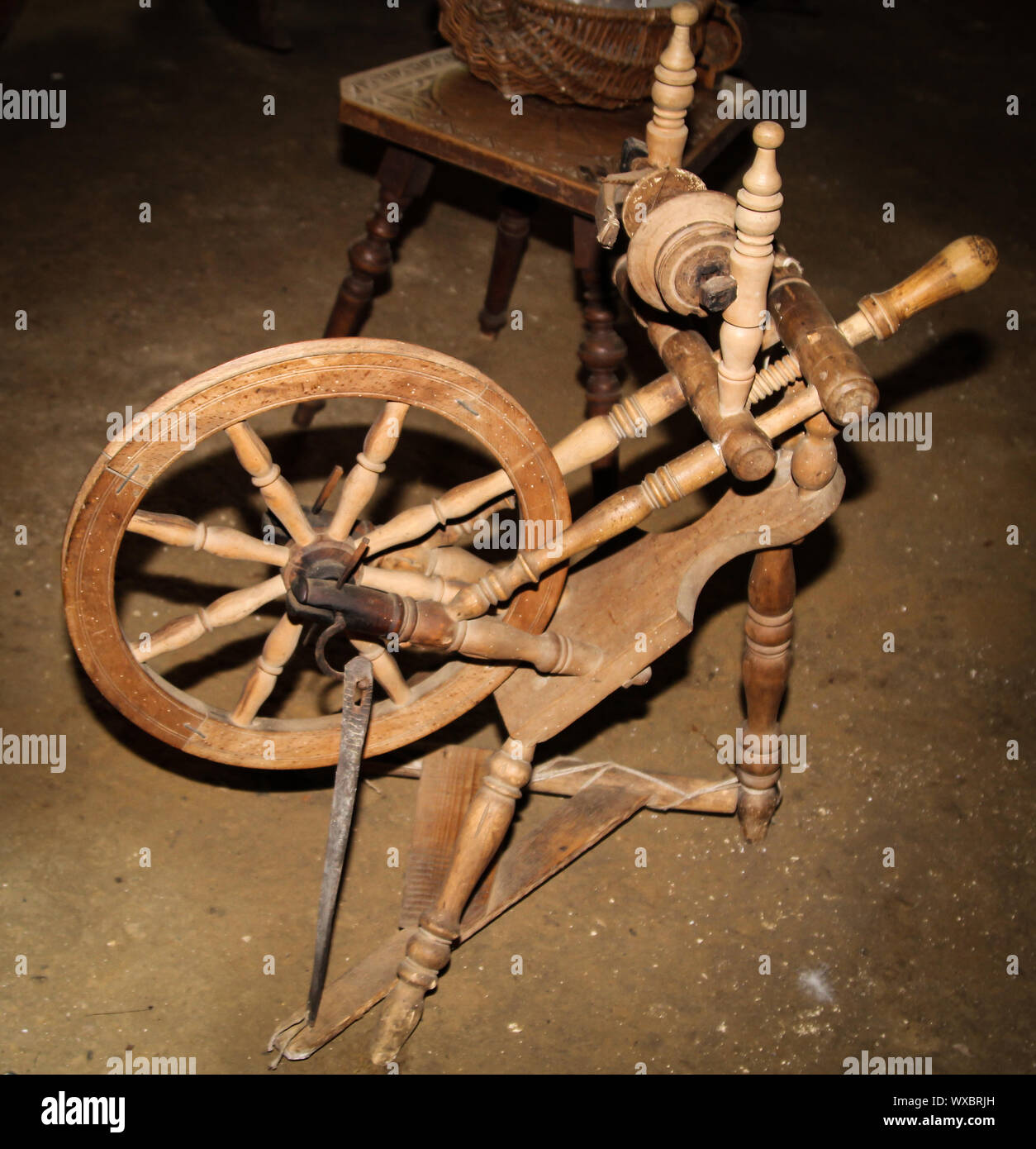Wool Spinning Machine High Resolution Stock Photography And Images Alamy