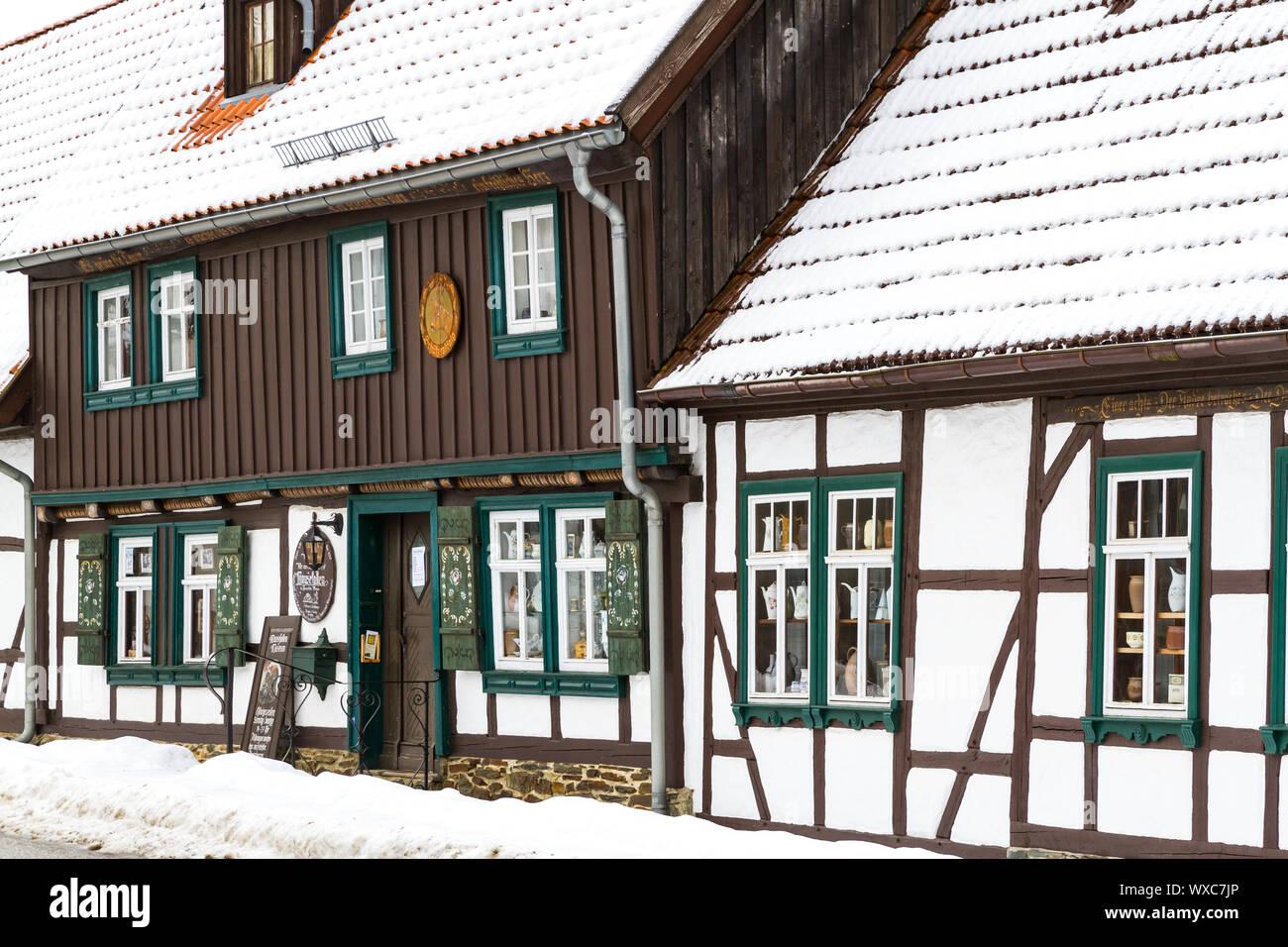 Mausefallen Museum Güntersberge Harz Stock Photo